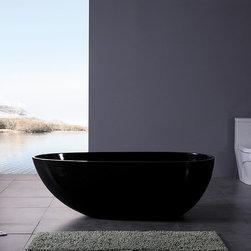 "Dazio III Luxury Modern Bathtub 73"" Black - Dazio III  Luxury Modern Bathtub"