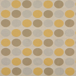 Beige Gold And Gray Polka Dots Indoor Outdoor Upholstery Fabric By The Yard - P601013 is great for residential and commercial applications, and can be used outdoors and indoors. This fabric will exceed at least 35,000 double rubs (15,000 is considered heavy duty), and is easy to clean and maintain. In addition, this product is stain, water, mildew, bacteria and fade resistant. For superior quality and performance, this fabric is woven and solution dyed.
