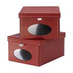 Jon Karlsson - NOSTALGISK Box with lid for paper - Box with lid for paper, red