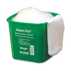 SAN JAMAR - KLEEN PAIL GRN 6QT FOR CLEANING SOLUTIONS 12/CS - Kleen-Pails® meet HACCP dedicated use guidelines for cleaner and sanitizer cloths used to wipe down surface areas. Kleen-Pails® make it easy to separate containers used for food storage from those used for dangerous non-food purposes. They also eliminate any potential confusion between cleaning and sanitizing solution containers. Kleen-Pails® are used for sanitizing solutions and have a 6-qt. capacity. 12 pails per case. Shpg. wt. 5.6-lbs.. . . . . Green. . . Kleen-Pail®. Dimensions: Height: 0.6875, Length: 0.625, Width: 0.75. Country of Origin: CN   CAT: Mops, Brooms & Brushes Mops & Equipment Wringers, Bucket & Pails