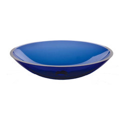 Renovators Supply - Vessel Sinks Blue Monday Glass Vessel Sink Oval | 12823 - Glass Vessel Sinks: Single Layer Tempered glass sinks are five times stronger than glass- 1/2 inch thick- withstand up to 350 F degrees- can resist moderate to high degrees of impact & are stain?proof. Ready to install this package includes FREE 100% solid brass chrome-plated pop-up drain- FREE machined 100% solid brass chrome-plated mounting ring & silicone gasket. Measures 20 1/4 in. L x 15 1/8 in. W x 5 1/2 in. deep. x 1/2 in. thick.
