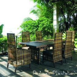 Padma's Plantation Emperor Outdoor Arm Dining Chair - Padma's Plantation Emperor Outdoor Arm Dining Chair