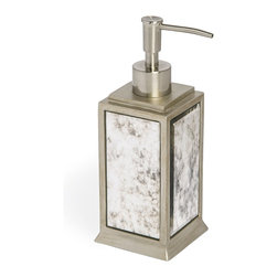 Kassatex - Kassatex Palazzo Collection Lotion Dispenser - Glamorous soap stars are never passé. This mirrored and glittering dispenser performs perfectly, to give you a generous portion of shampoo, soap, detergent, bubble bath or lotion with charm and grace.