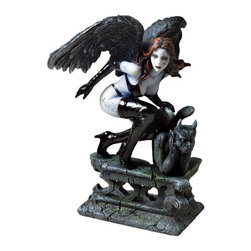 US - 7.25 Inch Figure Fantasy Fallen Angel and Gargoyle Collectible Gift - This gorgeous 7.25 Inch Figure Fantasy Fallen Angel and Gargoyle Collectible Gift  has the finest details and highest quality you will find anywhere! 7.25 Inch Figure Fantasy Fallen Angel and Gargoyle Collectible Gift  is truly remarkable.