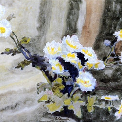 """Demuth Floral Still Life (Wild Daisies)  Print - 16"""" x 20"""" Charles Demuth Floral Still Life (also known as Wild Daisies) premium archival print reproduced to meet museum quality standards. Our museum quality archival prints are produced using high-precision print technology for a more accurate reproduction printed on high quality, heavyweight matte presentation paper with fade-resistant, archival inks. Our progressive business model allows us to offer works of art to you at the best wholesale pricing, significantly less than art gallery prices, affordable to all. This line of artwork is produced with extra white border space (if you choose to have it framed, for your framer to work with to frame properly or utilize a larger mat and/or frame).  We present a comprehensive collection of exceptional art reproductions byCharles Demuth."""