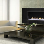 Fireplaces - Heat & Glo RED 60 with LED illumination and Clear Crystals