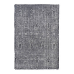 "Kaleen - Kaleen Restoration RES01 75 Grey Rug - 4 ft x 6 ft - Kaleen Restoration RES01 75 Grey Area Rug - The Restoration collection puts the finishing touches on a classic reproduction for some of the most unique rugs in the world. Hand-knotted in India of 100% wool, each rug is intentionally distressed by hand-shearing for authenticity, over-dyed colors for beautiful style, and complete with the smallest little details for the perfect replica of a vintage antique rug. A 100% natural ""green"" product and completely free of any latex materials."