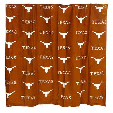 College Covers - NCAA Texas Longhorns Shower Curtain Bathroom Decoration - Features: