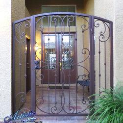 Wrought Iron Security Doors - www.artisticiron.com