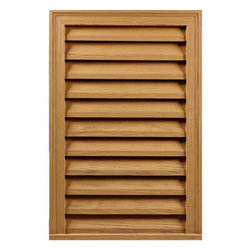 "Inviting Home - Rough Sawn Functional Decorative Louvers - rough sawn decorative rectangular louvers 20""W x 29-3/4""H x 2-1/8""D Rough sawn louvers specifications: rough sawn louvers designed for exterior application. Outstanding durability rough sawn louvers are made of high density polyurethane. These louvers are lightweight durable and easy to install using common woodworking tools and can be finished with any quality paints."