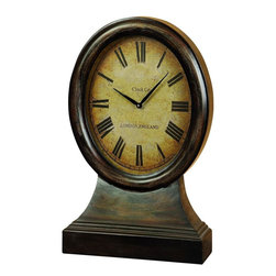 Benzara - Wood Table Clock Looks Like Coordinating Antique Table Decor - If you are looking for best value of your money invested for home decor, bring home 48184 Wood table clock that has great utility potential for each family. This Roman letter calibrated table clock can be placed anywhere whether it is office or shelves in home. It looks like antique table decor item that coordinates with any kind of furnishing and decoration