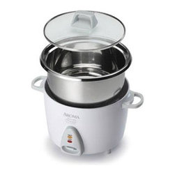 Aroma - 14 Cup Rice Cooker SS - The aroma simply stainless 14-cup rice cooker perfectly prepares rice and automatically switches to keep warm when rice is ready. It's also great for chili soups and so much more! Features one-touch operation and a surgical-grade 304 stainless steel cooking pot. Includes rice measuring cup and bamboo serving spatula. This item cannot be shipped to apo/fpo addresses. Please accept our apologies.