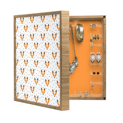 DENY Designs - Zoe Wodarz Foxy BlingBox Petite - Handcrafted from 100% sustainable, eco-friendly flat grain Amber Bamboo, DENY Designs BlingBox Petite measures approximately 15 x 15 x 3 and has an exterior matte cover showcasing the artwork of your choice, with a coordinating matte color on the interior. Additionally, the BlingBox Petite includes interior built-in clear, acrylic hooks that hold over 120 pieces of jewelry! Doubling as both art and an organized hanging jewelry box, It's bound to be the most functional (and most talked about) piece of wall art in your home! Custom made in the USA for every order.