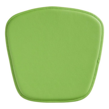 Zuo Modern - Chair Cushion in Green - Soft leatherette seat. Fits the Zuo mesh and wire chair. 18 in. W x 18 in D x 0.5 inches - 8oz Wt