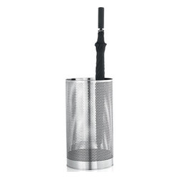 Blomus - VIDO Stainless Steel Umbrella Stand - Rain won't ruin your parade with the VIDO Stainless Steel Umbrella Stand. Its sleek, perforated design allows for sufficient venting and quicker drying, yet keeps all of the moisture contained and away from your floors.