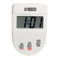 CDN Loud Alarm Timer Digital Kitchen Timer TM4 - The CDN TM4 Loud Alarm Timer counts down with big digits  displaying the last minute in seconds  and ends with a loud and clear alarm. Features stop and restart functions  and includes a pocket clip and magnet.      Product Features                          Instrument Range: 20 hours by hr/min            Counts down            Big digit            Loud alarm            Stop and restart            Counts last min in sec            Food-safe ABS plastic            2-way mounting: pocket clip/magnet            1.5V AAA IEC LR03 Alkaline