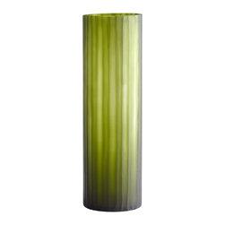 Green Cylinder Art Glass Vase - Large - *Large Cee Lo Vase