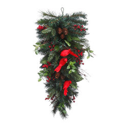 Silk Plants Direct - Silk Plants Direct Berry, Pine Cone, Cardinal and Pine Teardrop (Pack of 2) - Pack of 2. Silk Plants Direct specializes in manufacturing, design and supply of the most life-like, premium quality artificial plants, trees, flowers, arrangements, topiaries and containers for home, office and commercial use. Our Berry, Pine Cone, Cardinal and Pine Teardrop includes the following: