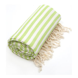 None - Authentic Pestemal Fouta Pistachio Green Turkish Cotton Bath and Beach Towel - Relax on the beach and enjoy the sunshine with this coloful cotton beach towel. It is made from 100 percent Turkish cotton for added softness, and it is machine washable, which makes cleanup easy. It is fast drying, which helps prevent mildew.