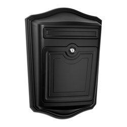 Architectural Mailboxes - Maison Locking Wall Mount Mailbox - Special delivery. This uniquely handsome mailbox delivers on all the important options: It offers locked door security and durable craftsmanship, plus an especially wide mail slot and compartment that can handle your bundled mail, magazines and priority envelopes easily.