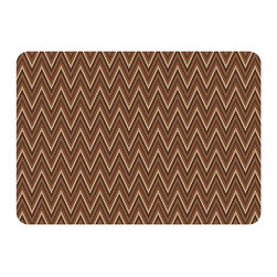 Bungalow Flooring - Premium Comfort Chevron Weave Mat, Russet - Woven polyester face captures colors and graphics in near photographic quality.