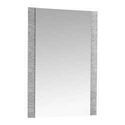 Decor Wonderland Mirrors - Decor Wonderland Frameless Molten Wall Mirror - The Molten frameless bathroom mirror is a unique and intricate mirror sure to make a statement in your full or half bathroom. This large frameless wall and bathroom mirror has metal encased in glass border with beveled inside polished outside. Free Shipping!