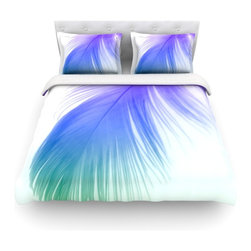 """Kess InHouse - Alison Coxon """"Feather Colour"""" Cotton Duvet Cover (Twin, 68"""" x 88"""") - Rest in comfort among this artistically inclined cotton blend duvet cover. This duvet cover is as light as a feather! You will be sure to be the envy of all of your guests with this aesthetically pleasing duvet. We highly recommend washing this as many times as you like as this material will not fade or lose comfort. Cotton blended, this duvet cover is not only beautiful and artistic but can be used year round with a duvet insert! Add our cotton shams to make your bed complete and looking stylish and artistic! Pillowcases not included."""