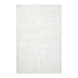 Surya - Plush Grizzly 2'x3' Rectangle White Area Rug - The Grizzly area rug Collection offers an affordable assortment of Plush stylings. Grizzly features a blend of natural White color. Handmade of 100% Polyester the Grizzly Collection is an intriguing compliment to any decor.