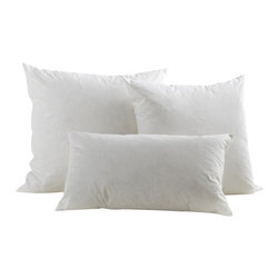 Pillow Insert - Our inserts are filled with a feather/down blend for a combination of form and function.