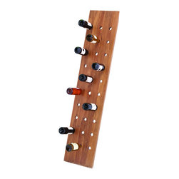 Benzara - Simple & Suave 69in. Wooden Wine Rack in Glossy Brown Finish - This Wooden Wine Rack will make for the perfect addition to your home bar setting. Featuring a simple and suave modern design, this wine rack will blend in with all kinds of home decor. Flaunting a tall, slender frame, it will take up very little space and can hold multiple wine bottles at a given time very easily. Made from quality wood, this wine rack has a sturdy and hard-wearing form that will not wear out easily. Sporting neat and clean contours, its glossy brown shade adds a chic opulence and grace to the design and your home settings, too. It comes with a dimension of 65 in.  H x 14 in.  W x 1 in.  D.