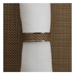 Chilewich - Chilewich | Napkin Rings S/4, New Gold - Chilewich | Napkin Rings S/4