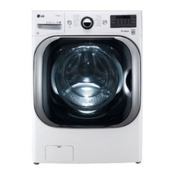 """LG - WM8000HWA 29"""" 5.1 cu.ft. Mega Capacity TurboWash Washer with Steam Technology  T - The LG WM8000H 52 DOE Cu Ft high-efficiency front load washer with steam is able to wash a king size comforter and a full set of bedding in a single load And just think how much more amazing this would be if you could tackle a regular load of laundry..."""