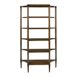 EuroLux Home - New Shelf  Brown/Beige/Tan Cherry 5-Shelf - Product Details