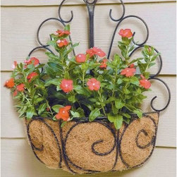Deer Park Ironworks Peacock Wall Basket with Coco Liner - Spruce up an empty wall with the simple but elegant Deer Park Ironworks Peacock Wall Basket with Coco Liner. Easily change out a plant or flower to fit your decor any time you want. Our basket is made of heavy gauge steel and is finished with a weather-resistant classic patina powder coat. Our Peacock basket also comes with a form-fitted coco liner to help with soil and water retention.About Deer Park Ironworks Deer Park Ironworks has a reputation as a premier wrought iron lawn and garden company. They create timeless designs with quality materials and price them at competitive rates. All of their products are made from heavy gauge steel and have a durable powder-coated finish, which are Earth-friendly since they emit zero, or near zero, volatile organic compounds. Deer Park's powder-coating finishes also produce a much thicker coating than conventional liquid coatings that sometimes run or sag. Furthermore, Deer Park's products feature a unique natural patina appearance that complements any decor or color scheme. And their decorative baskets, wall planters, and window boxes come with a fitted coco liner that is a natural product that helps with proper drainage and provides a healthy environment for your plants to grow.