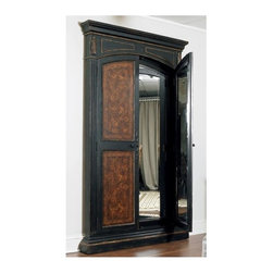 Hooker Furniture - Floor Mirror - Rectangular shape. Two doors. Made from wood. 51.5 in. W x 6 in. D x 87.25 in. H