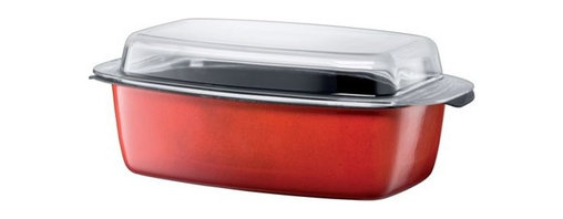 Silit - Passion Colors Gourmet Roasting Pan, Energy Red - -Extra-sturdy, drawn-in-one-piece steel core.