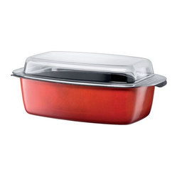 Passion Colors Gourmet Roasting Pan, Energy Red