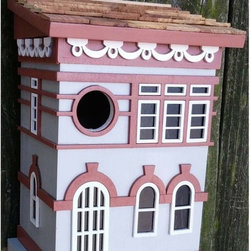 Home Bazaar - Home Bazaar Brooklyn Townhouse Birdhouse Multicolor - HBK-1014S - Shop for Houses from Hayneedle.com! Give your nesting neighbors a cozy place to call home with the Home Bazaar Brooklyn Townhouse Birdhouse. An all wood construction and hand-painted details makes this an adorable part of your outdoor decor. Birds will love the spacious unfinished interior. A removable wall makes for easy cleaning and care.About Home BazaarCombining their love of birds and nature with their technical and design abilities the people of Home Bazaar set out to create the world's most spectacular line of birdhouses and birdfeeders in 1999. They've even created a line of architectural birdhouses feeders pedestals and garden accessories. These items are created using only the finest materials and with painstaking attention to detail. Each product is manufactured for functional use and to be enjoyed for years. Distinctive bird houses and feeders can be matched with accommodating pedestals and these pieces can be placed in the backyard or the garden. Cottage designs and pieces with Victorian scrollwork often end up on covered porches or inside the home as decorative accents.