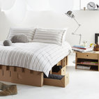 The Paperpedic Bed - The Australian company Karton Group is getting much press for their beautiful and flexible yet strong cardboard furniture. They have bedroom sets, office sets, storage furniture, tables and chairs. You must browse this site. Currently, they only ship throughout Australia.