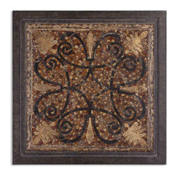 Uttermost - Ardah Abstract Metal Wall Art - This large, abstract metal wall art will command attention in your space. The intricacy of the detailed mosaic pattern transports you to exotic Arabia. You can practically smell the frankincense and myrrh!