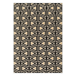 """Loloi Rugs - Loloi Rugs Goodwin Collection - Black / Beige, 2'-8"""" x 7'-7"""" - Go bold with the big graphic patterns featured in the Goodwin Collection. Power loomed in Turkey of 100% polypropylene, expect amazing color fastness from the resilient fiber and unparalleled durability from the densely packed yarns. Available in scatter, regular, round, and runner sizes."""