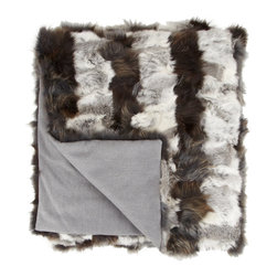 Striped Fur Throw - This is the most luxurious fur throw. It's so cozy!