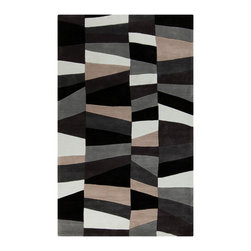 Surya - Surya Cosmopolitan COS-9188 (Black) 9' x 13' Rug - Hand tufted from 100% poly-acrylic fibers, these economical rugs come in designs inspired by high-fashion and abstract art. Contemporary and transitional themes are seen throughout the collection and make for a diverse group of rugs that can be utilized in a number of different types of rooms.