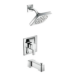 Moen - Moen TS3713 Moentrol Tub Shower Finish Trim - With its ultra-contemporary styling, the 90 Degree collection brings a sharp, clean look to the home.
