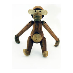 Stilnovo Midcentury Teak Monkey - Tropical woods for a tropical animal--the Monkey is made by hand from solid teak and limba wood. Each piece is made unique through the texture of the wood grain.