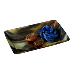 Zhush - Horn Desk Tray - This horn tray is a luxe little catchall that would look chic on a desktop.