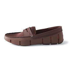 Frontgate - Men's Penny Front Loafer - Side vents and mesh lining ensure great comfort and breathability. Durable and flexible TPU outer shell. EVA insole and mesh top both have odor-resistant, antibacterial properties. Hand-sewn finishing joins rubber and mesh. Non-marking, non-slip lugged sole ensures stable footing. The classic loafer design is the perfect option for a day on the boat, at the beach, gardening, or at a pool party. Plus, it's made with Swims' signature rubber that is soft, flexible, and simply shrugs off water. It's the go-anywhere summer shoe.  .  .  .  .  . Water-resistant construction . Simply wipe clean or machine wash cold . Imported. Please Note: Men's shoe runs large; you may want to order one size down from your normal shoe size.