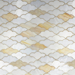 Erin Adams - Clouds - Clouds, a waterjet glass mosaic shown in Opal, Agate and Moonstone, is part of the Erin Adams Collection for New Ravenna Mosaics.