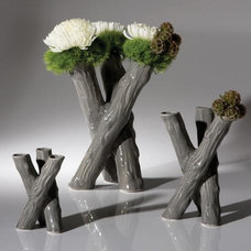 Traditional Vases by Candelabra