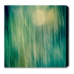 AlignBetween Art | Design - Drops I - Nature Canvas Art Print, Abstract, Large - This photographic art on canvas reveals falling water droplets diffused by an oak tree, illuminated from behind by sunlight. Shot on the beautiful Peace River in Florida by Beverly of AlignBetween.